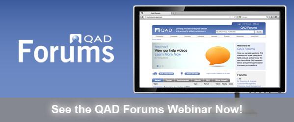 QAD Forums