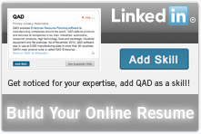 QAD as a Skill on LinkedIn