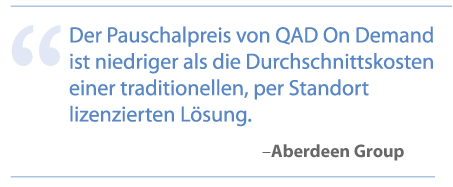 QAD On Demand – ERP Systeme