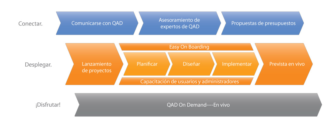 ERP Implementación: En QAD On Demand ruta de implementación de ERP