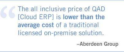 QAD Cloud ERP – Reduced Cost with web-based ERP Software