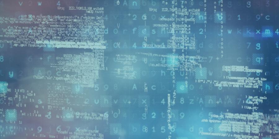 data, blue, code