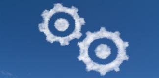 blue, sky, cloud, gears