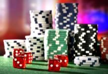 gambling, chips, dice