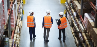 inventory accuracy, warehouse, workers, hardhats