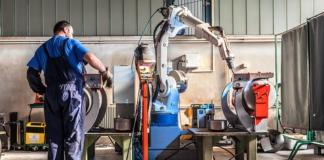 cobots, worker, factory, robotics