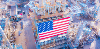 business, united states, economy, infrastructure, manufacturing, american flag