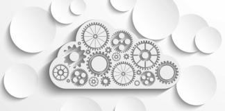 cloud, shop floor digitization, circles, gears