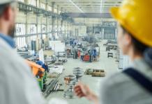 factory, innovation, hardhats