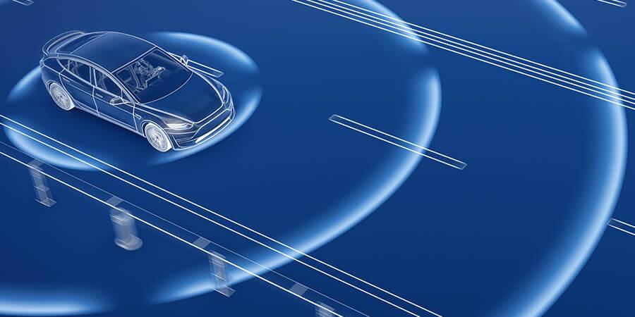 autonomous driving, car, sensors, road