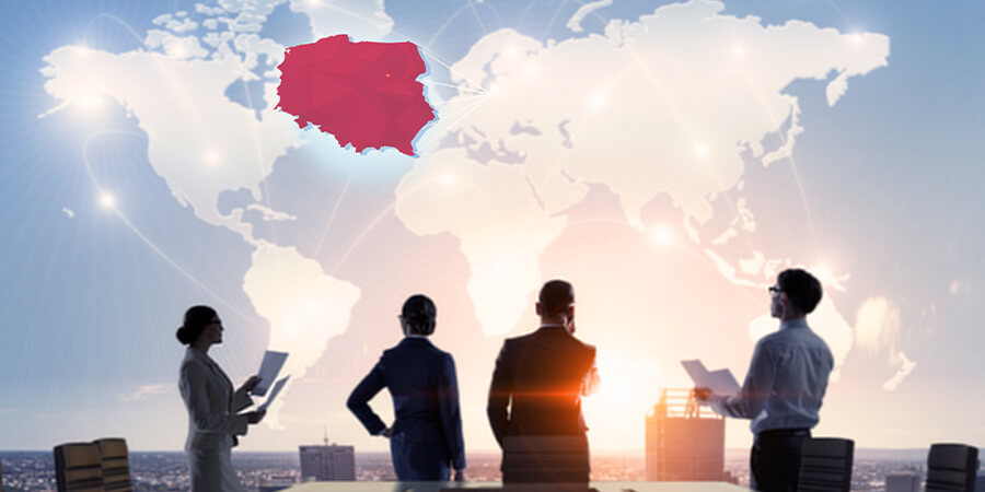 Poland, business, map