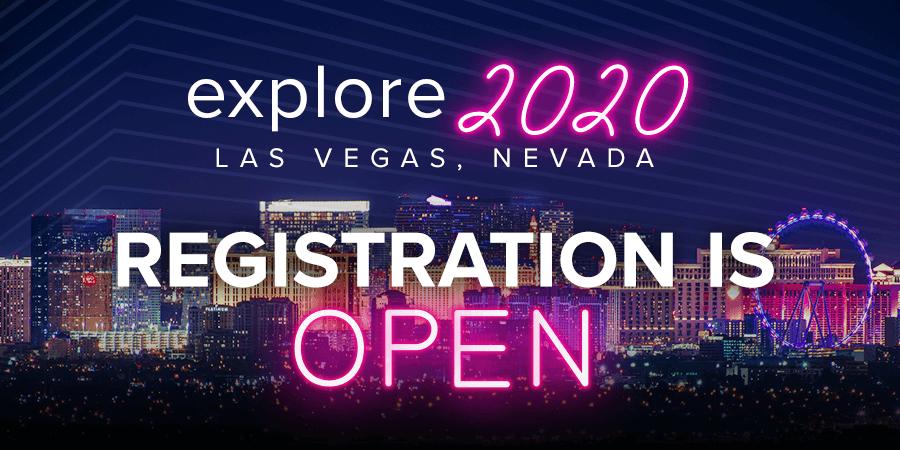 Explore, registration, Las Vegas, 2020, QAD
