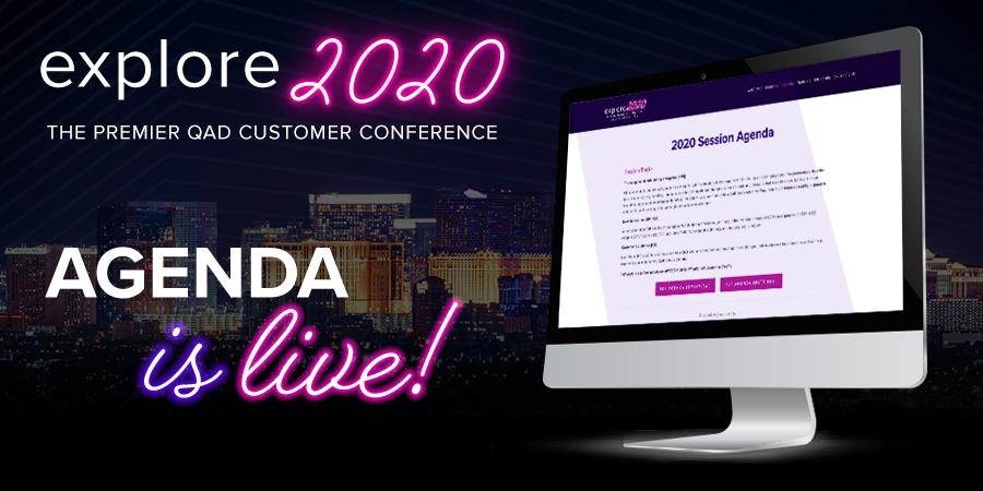 Explore, agenda, QAD Explore, Explore 2020, customer conference