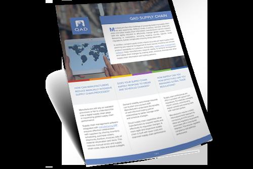 Demand & Supply Chain Management | QAD